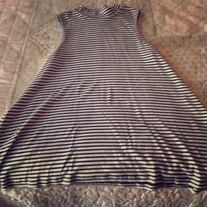 Target Mossimo Black & White Striped dress/shirt